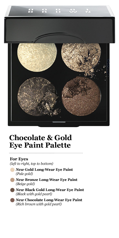 Bobbi Brown Chocolate & Gold Eye Paint Palette