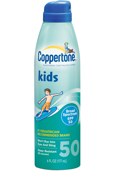 Coppertone Kids Clear Continuous Sunscreen Spray - SPF 50 - 6 oz
