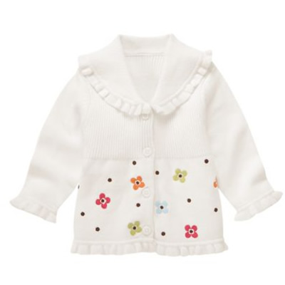 Gymboree Flower Cardigan