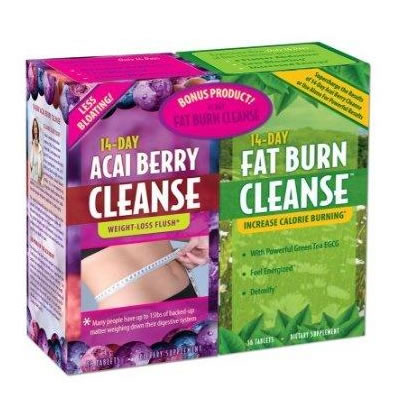 Applied Nutrition 14-Day Acai Berry Cleanse & 14-Day Fat Burn Cleanse
