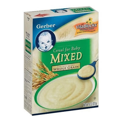 How to mix baby cereal