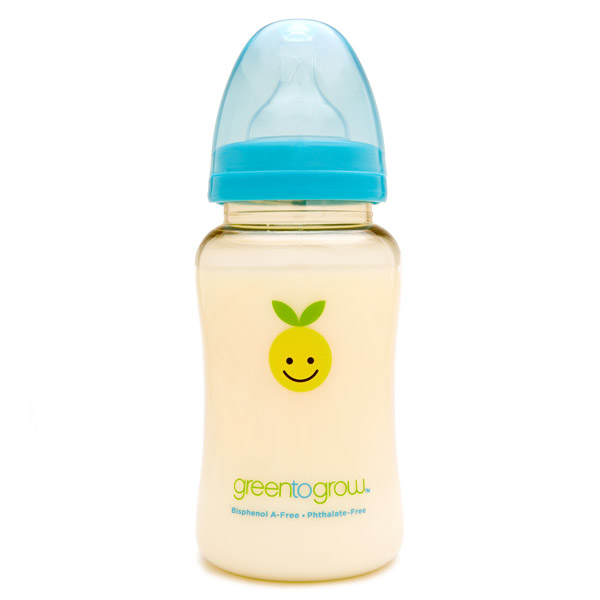 Green to Grow 10 oz. wide neck  bpa-free baby bottle with Mellow™ colic-relief10 oz wide neck