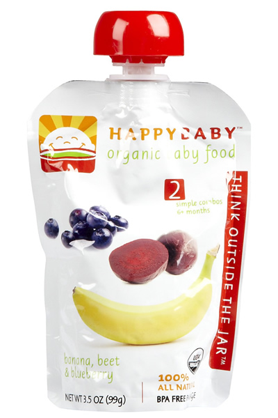 Happy Baby Stage 2 Bananas, Beets & Blueberries