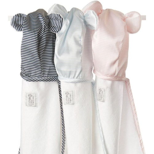 Little Giraffe Mini Stripe Satin Towel