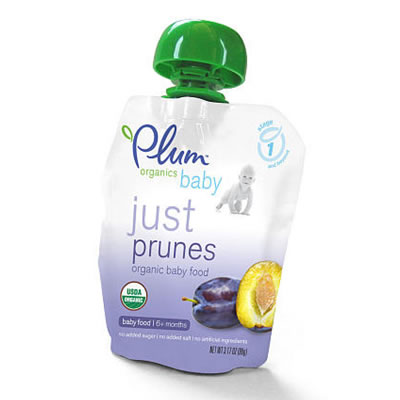 Plum Organics Just Fruit Baby Food - Prunes