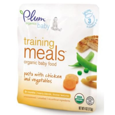 Plum Organics Training Meals - Pasta with Chicken & Vegetables
