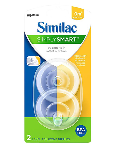 Similac Slow Flow Nipple and Ring / Latex-free / Case of ...