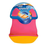 Tommee Tippee Explora Easi-Roll Bibs 2-Pack, Pink & Orange (BPA FREE)