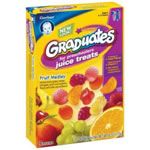 Gerber Graduates Juice Treats, Fruit Medley, 6-Count Pouches (Pack of 6)
