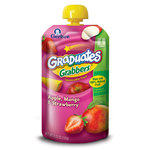 Gerber Graduates Grabbers, Apple, Mango, Strawberry, 4.23-Ounce