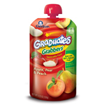 Gerber Graduates Grabbers, Apple, Pear Peach, 4.23-Ounce
