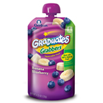 Gerber Graduates Grabbers, Banana and Blueberry, 4.23-Ounce