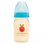 Green to Grow 5 oz wide neck  bpa-free baby bottle with Mellow™ colic-relief5 oz wide neck