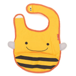 Skip Hop Zoo Bibs tuck-away bibs (BEE)