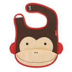 Skip Hop Zoo Bibs tuck-away bibs (MONKEY)